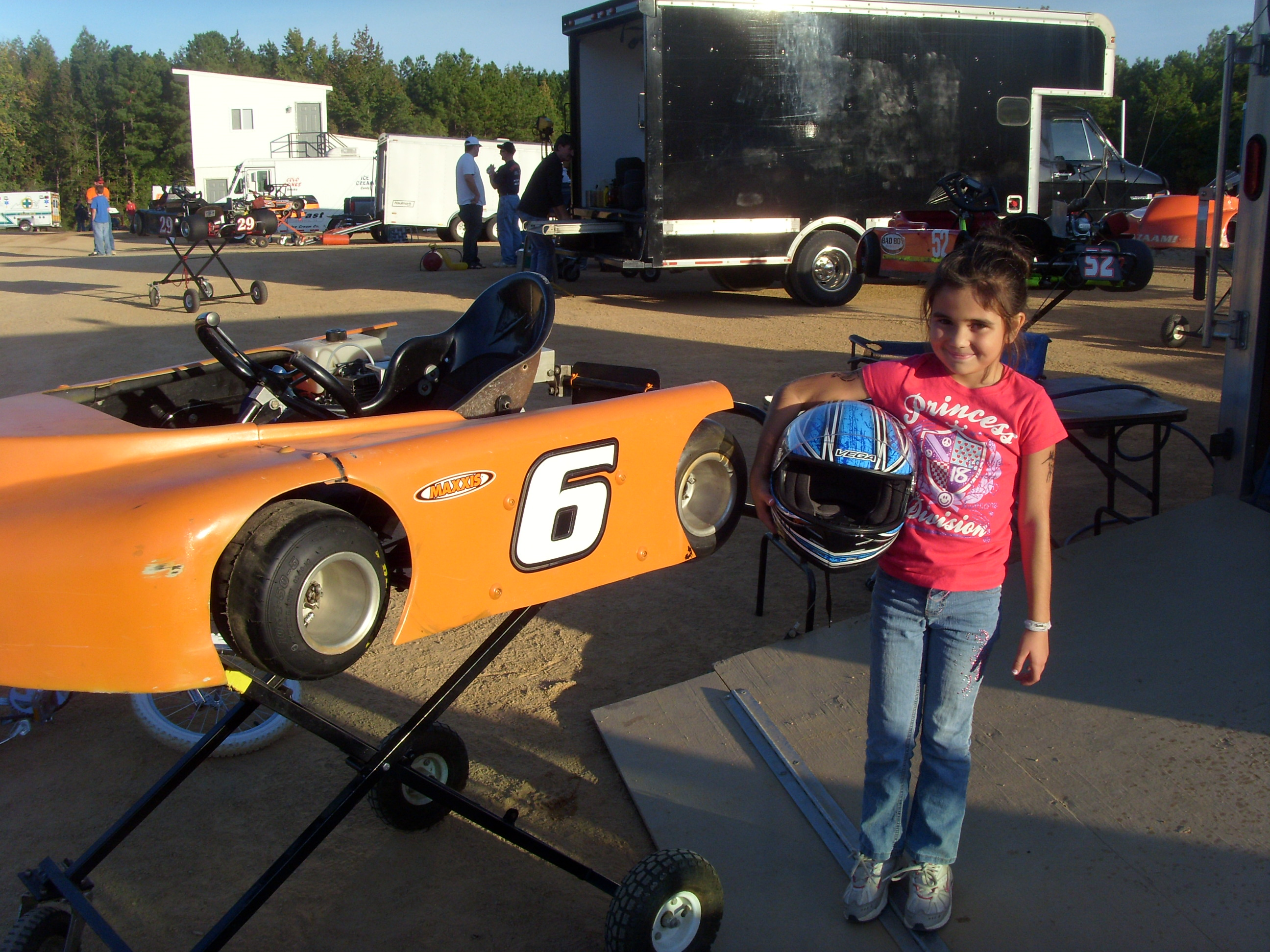 kart grader Oliuvia Menendez from Emporia races in Kids Kart and is a 3rd  kart grader