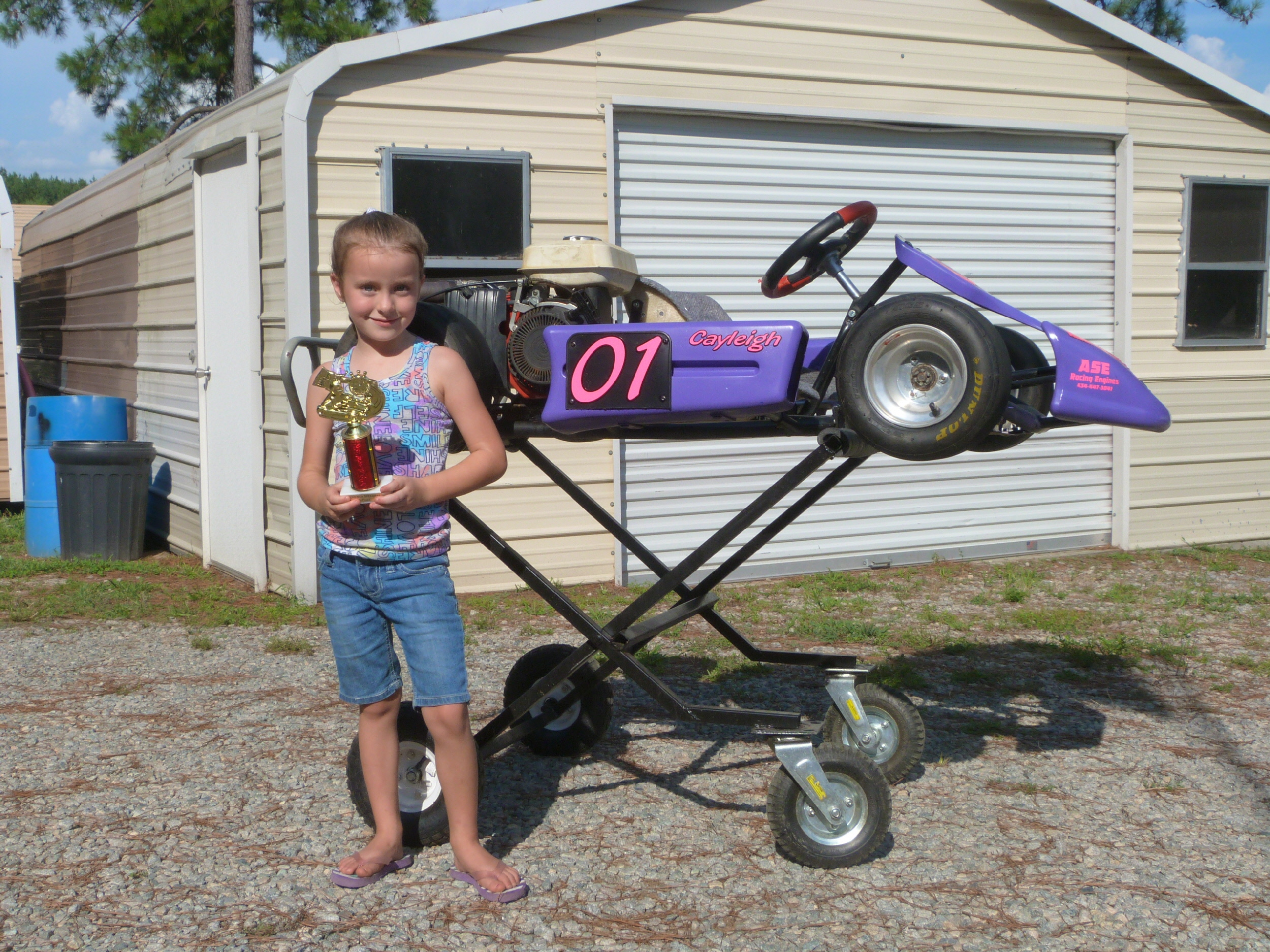 Cayleigh Vaughan (age 6) won her 1st Kids Karts race July 14 in ...