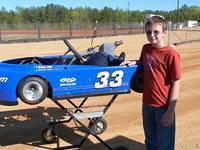Jacob McDaniel races in Hot Rods