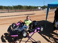 Ainsley Simmons races Kids Karts 1st Race ever 4-7-2012