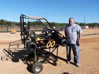 Alan Vaughan with his Champ Super Heavy 440 Kart